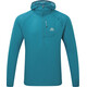 Mountain Equipment Solar Eclipse Hooded Zip Tee Men Tasman Blue